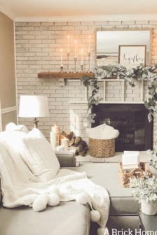 Awesome Winter Home Decoration Design Ideas With Unique Fireplace25