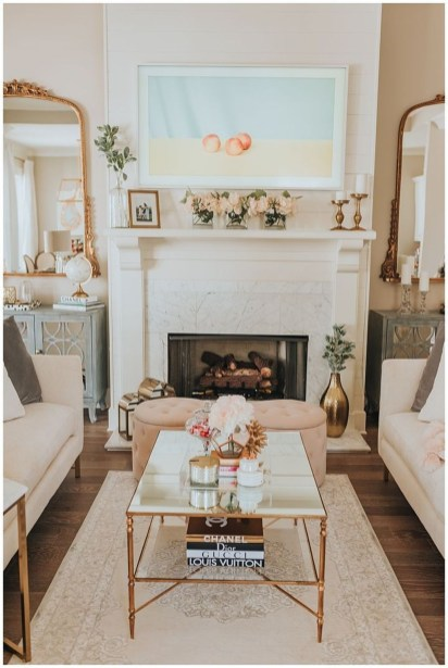 Awesome Winter Home Decoration Design Ideas With Unique Fireplace31
