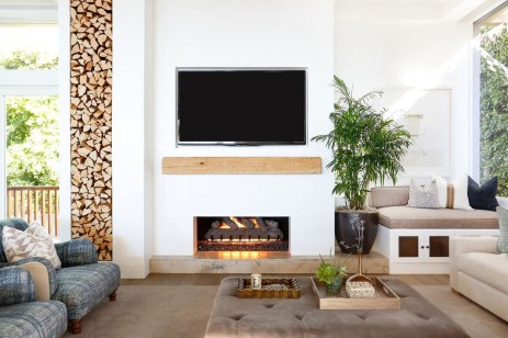 Awesome Winter Home Decoration Design Ideas With Unique Fireplace34