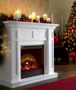 Awesome Winter Home Decoration Design Ideas With Unique Fireplace37