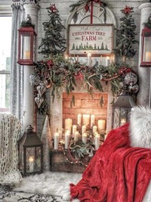 Hottest Farmhouse Christmas Decorations Ideas To Try Asap12