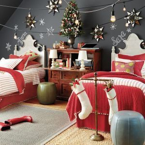 Latest Christmas Bedroom Decor Ideas For Kids To Try11