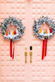 Newest Christmas Door Decoration Ideas You Must Try Right Now12