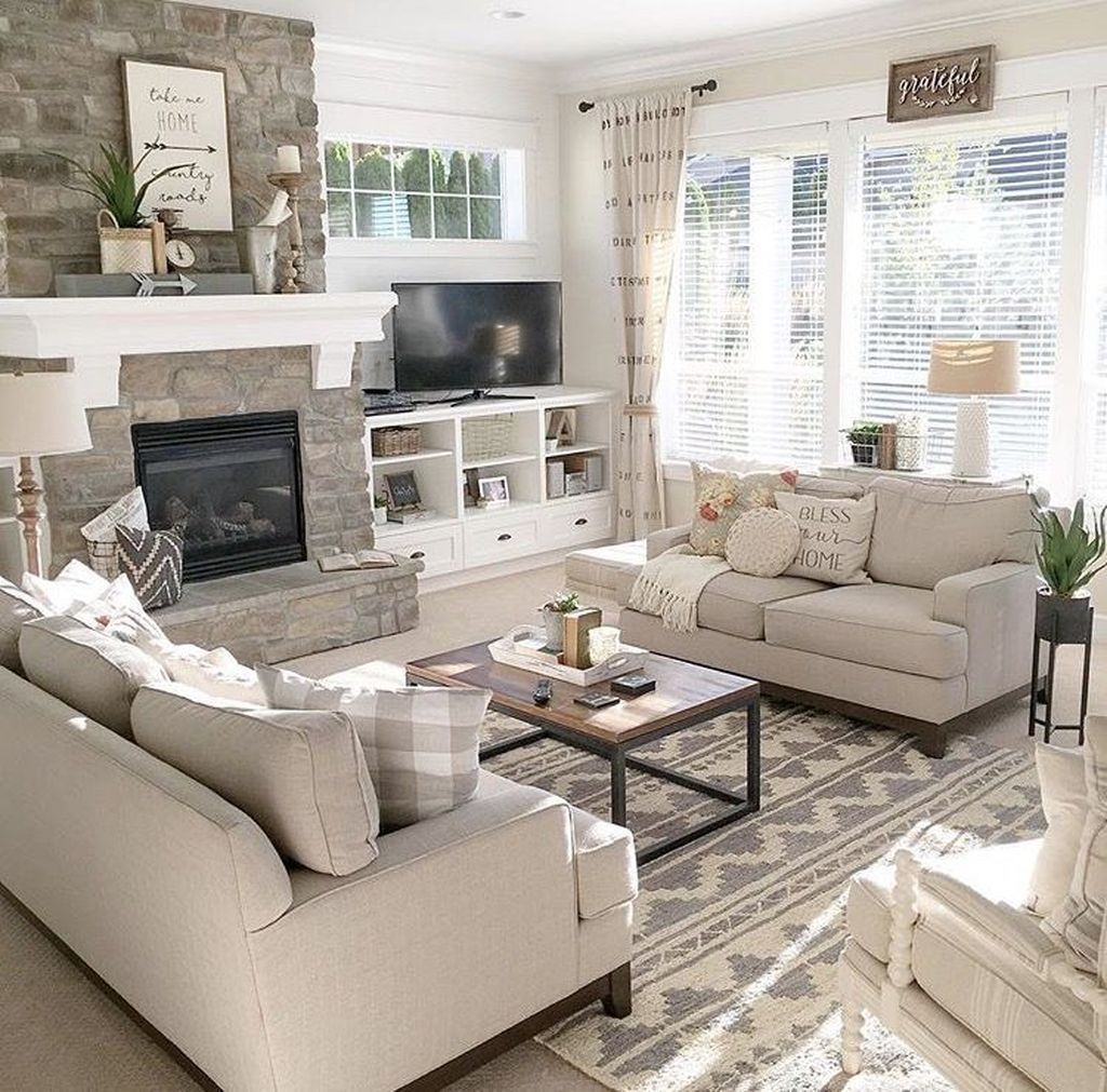 Pretty Living Room Remodel Ideas To Try Asap34