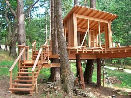 Rustic Diy Tree Houses Design Ideas For Your Kids And Family17