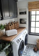 Cozy Laundry Room Tile Pattern Design Ideas To Try Asap14