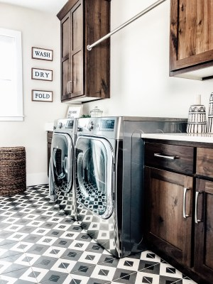 Cozy Laundry Room Tile Pattern Design Ideas To Try Asap30