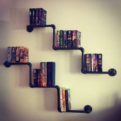 Stunning Diy Pipe Shelves Design Ideas That Looks Awesome28