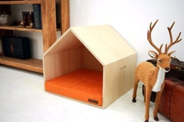 Captivating Plywood Dog House Design Ideas With Fishbone To Insoire You06