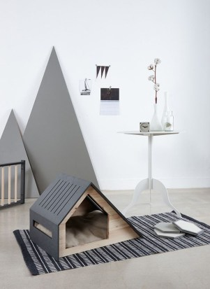 Captivating Plywood Dog House Design Ideas With Fishbone To Insoire You09