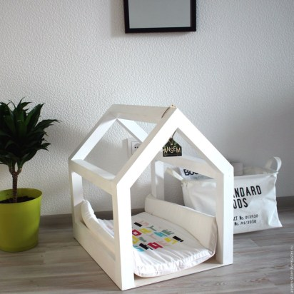 Captivating Plywood Dog House Design Ideas With Fishbone To Insoire You12