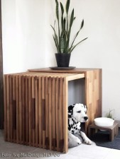 Captivating Plywood Dog House Design Ideas With Fishbone To Insoire You15