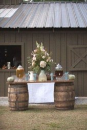 Chic Outdoor Wedding Drink Station And Bar Ideas For Winter To Try Asap24