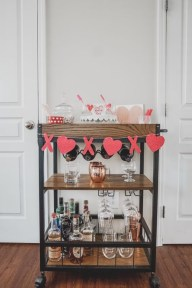 Sophisticated Bar Carts Ideas For Valentine Décor To Try Asap14