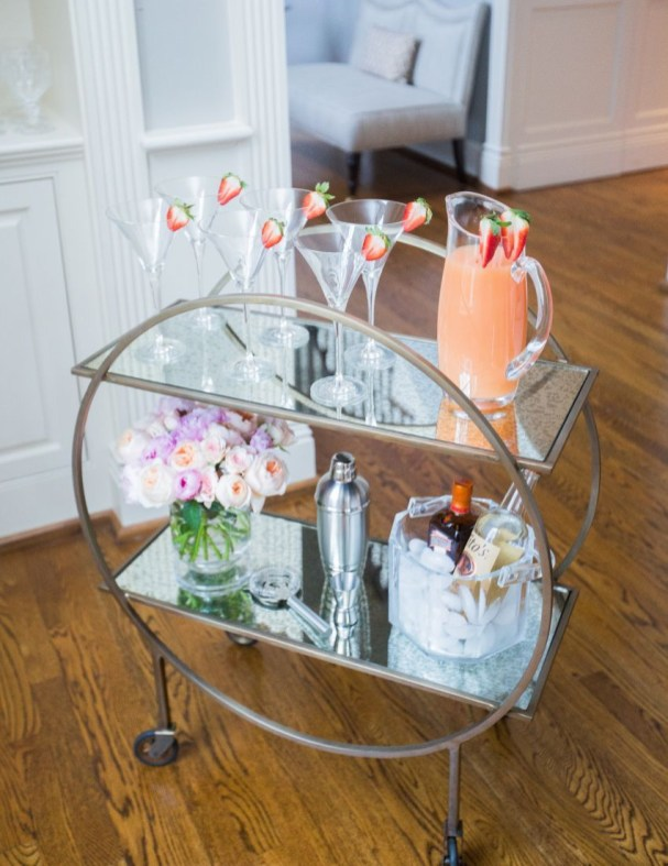 Sophisticated Bar Carts Ideas For Valentine Décor To Try Asap28