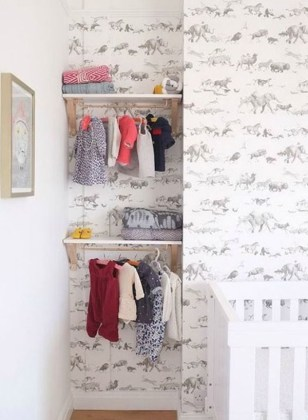 Splendid Baby Closet Organizer Design Ideas That Without Closet To Try07