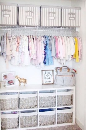 Splendid Baby Closet Organizer Design Ideas That Without Closet To Try15