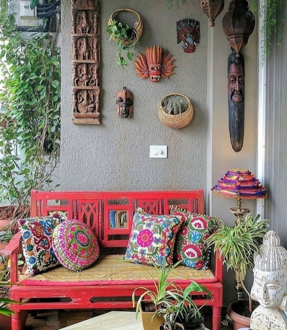 Captivating Bohemian Interior Design Ideas That Suitable For Your Apartment36