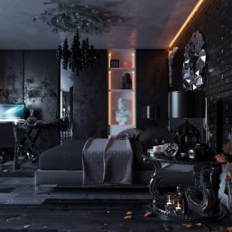Exciting Dark Gothic Interior Designs Ideas That You Need To Try19