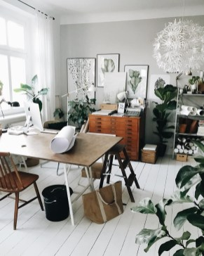 Fascinating Home Office Design Ideas With Beautiful Plants To Try Asap06