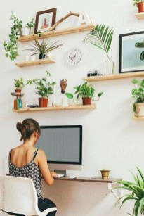 Fascinating Home Office Design Ideas With Beautiful Plants To Try Asap12