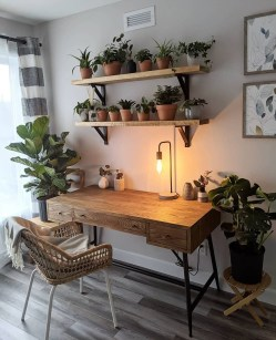 Fascinating Home Office Design Ideas With Beautiful Plants To Try Asap14