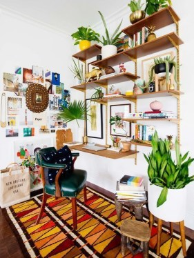 Fascinating Home Office Design Ideas With Beautiful Plants To Try Asap15