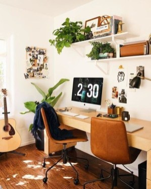 Fascinating Home Office Design Ideas With Beautiful Plants To Try Asap17