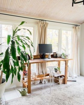 Fascinating Home Office Design Ideas With Beautiful Plants To Try Asap25