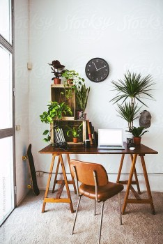 Fascinating Home Office Design Ideas With Beautiful Plants To Try Asap26