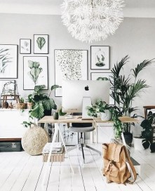 Fascinating Home Office Design Ideas With Beautiful Plants To Try Asap29
