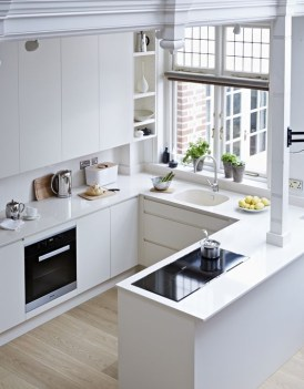 Glamorous Small Kitchen Design Ideas That Can Saving Your Space30