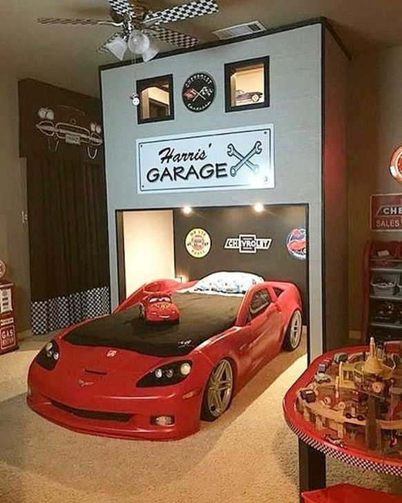 Luxury Kids Bedroom Design Ideas With Car Shaped Beds04