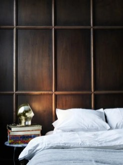 Newest Bedroom Design Ideas That Featuring With Wooden Panel Wall03