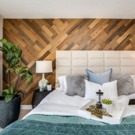 Newest Bedroom Design Ideas That Featuring With Wooden Panel Wall07