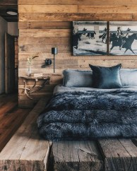 Newest Bedroom Design Ideas That Featuring With Wooden Panel Wall10