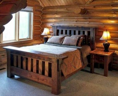 Newest Bedroom Design Ideas That Featuring With Wooden Panel Wall11