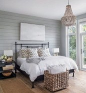 Newest Bedroom Design Ideas That Featuring With Wooden Panel Wall14