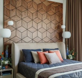 Newest Bedroom Design Ideas That Featuring With Wooden Panel Wall18