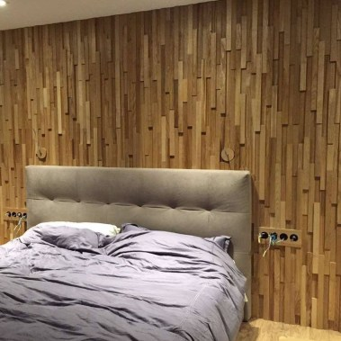 Newest Bedroom Design Ideas That Featuring With Wooden Panel Wall19