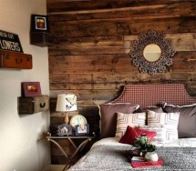 Newest Bedroom Design Ideas That Featuring With Wooden Panel Wall25