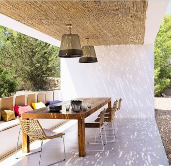 Newest Outdoor Bohemian Dining Room Design Ideas To Try Right Now16