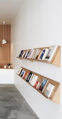 Trendy Plywood Bookshelf Design Ideas With Floating Effects To Try Asap01