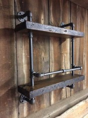 Unusual Industrial Pipe Rack Storage Design Ideas To Try Right Now29