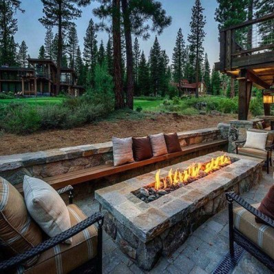 Best Patio Deck Design Ideas With Firepit To Make The Atmosphere Warmer06