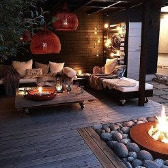 Best Patio Deck Design Ideas With Firepit To Make The Atmosphere Warmer08