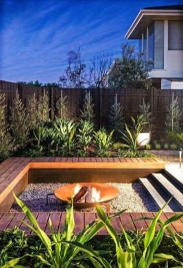 Best Patio Deck Design Ideas With Firepit To Make The Atmosphere Warmer13