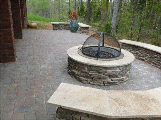 Best Patio Deck Design Ideas With Firepit To Make The Atmosphere Warmer14
