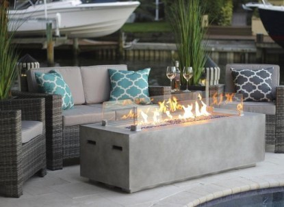 Best Patio Deck Design Ideas With Firepit To Make The Atmosphere Warmer26
