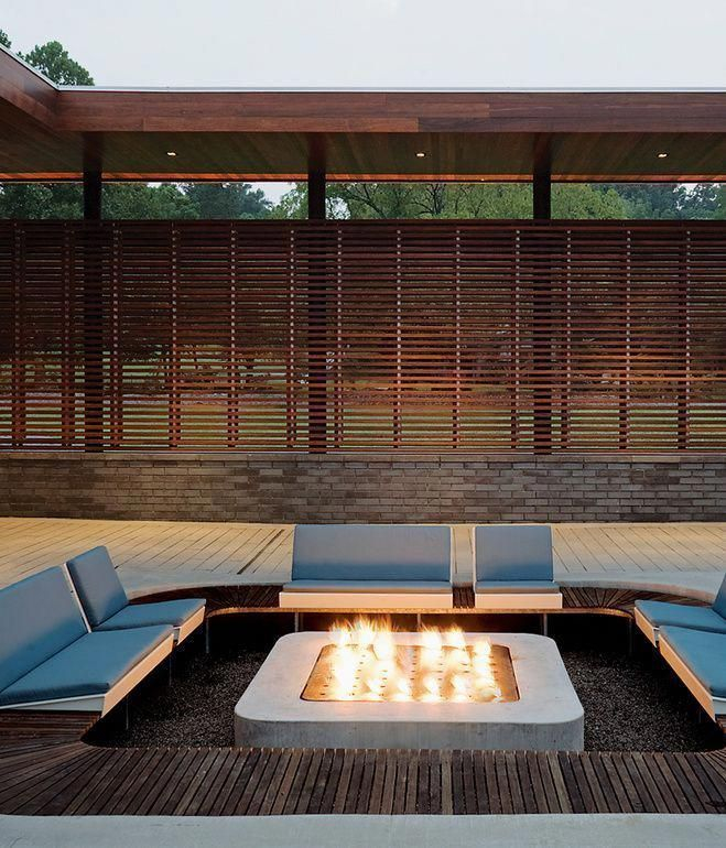 Best Patio Deck Design Ideas With Firepit To Make The Atmosphere Warmer37